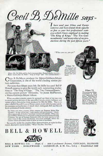 Bell & Howell Eyemo and Filmo Cameras - 35mm and 16mm